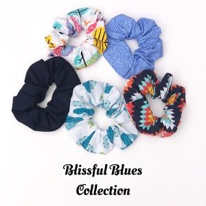 Blissful Blues Scrunchie Collection